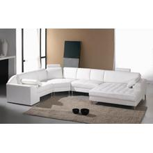 Divani Casa Monaco 2236 Modern White Leather Sectional Sofa