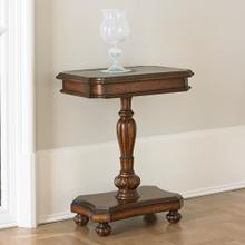 Brass Etched Accent Table