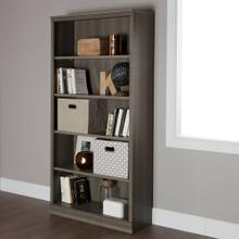 5-Shelf Bookcase - Gray Maple