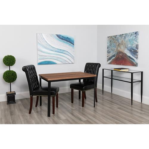 """Avalon 30"""" x 45.75"""" Rectangular Dining Table in Coffee Wood Finish"""