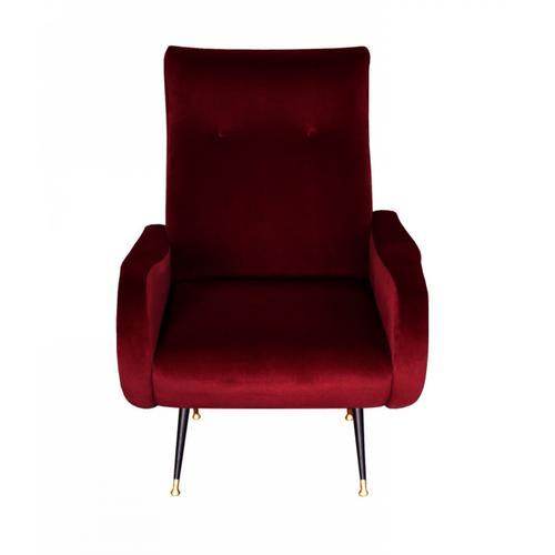 Divani Casa Saline - Glam Burgundy Accent Chair