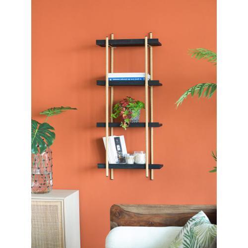A & B Home - Four Tiers Shelf Black