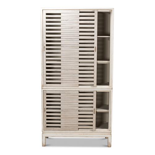 Groovy Doors Bookcase, Whitewash