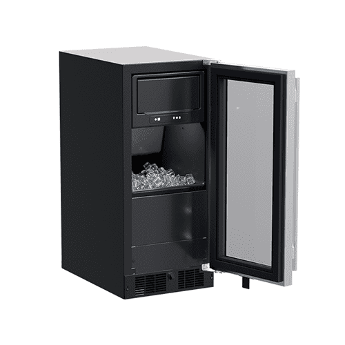 15-In Built-In Clear Ice Machine with Door Style - Stainless Steel Frame Glass