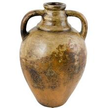 Textured Amber Olive Jar