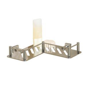 Essentials L-shaped Shower Shelf, Braga Backplate Product Image