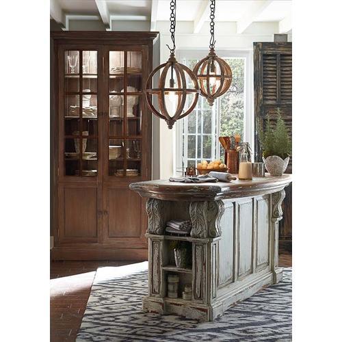 Charleston Kitchen Island w/ Corbels & Basket