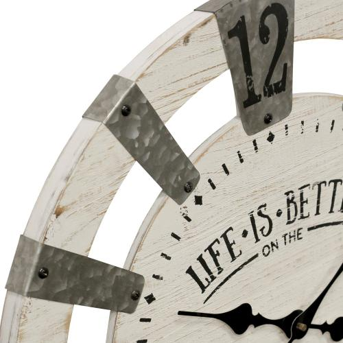 Wc2134 In By Style Craft In Niles Oh Life Is Better On The Farm Traditional Farmhouse Wood And Galvanized Metal Wall Clock Built In H