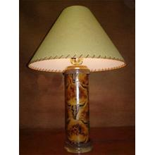 See Details - Longhorn Leather Lamp