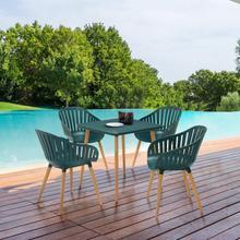 View Product - Nassau Outdoor 5 Piece Green Eucalyptus Dining Set