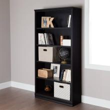 5-Shelf Bookcase - Black Oak