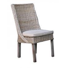 Exuma Side Chair w/beige cushion