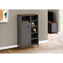 CABINET - GREY CONCRETE / MEDIUM BROWN RECLAIMED TOP