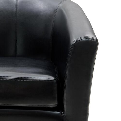 Product Image - Hayden SWIVEL Bonded Leather Accent Arm Chair, Black