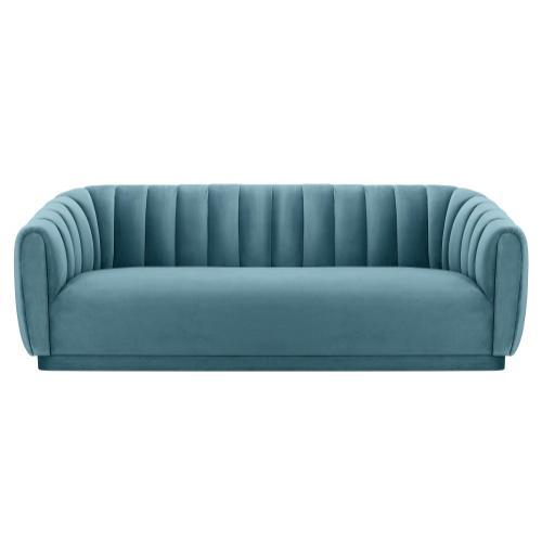 Tov Furniture - Arno Sea Blue Velvet Sofa