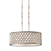Lucia Linear Chandelier Burnished Silver