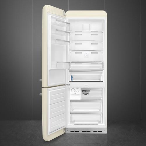 18 cu. ft. retro-style fridge, Cream, Left-hand hinge
