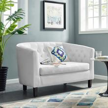 See Details - Prospect Upholstered Vinyl Loveseat in White