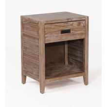 See Details - Alstad Solid Wood Nightstand - Pine Cone