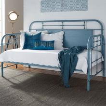 179BR11TBBL  Twin Metal Day Bed - Blue