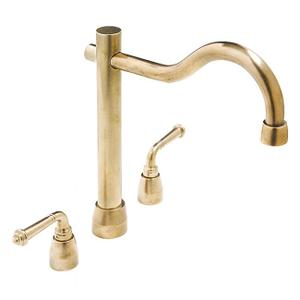 Kitchen Deck Mount Faucet Silicon Bronze Brushed Product Image
