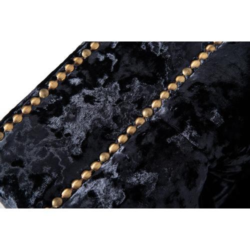 Divani Casa Fredrick Modern Black Crushed Velvet Sectional Sofa