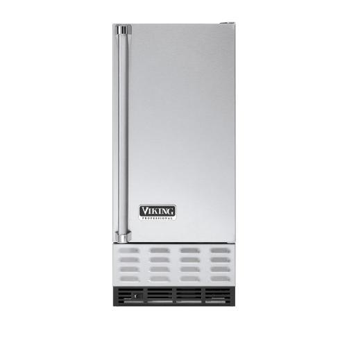 """Viking - Stainless Steel 15"""" Undercounter/Freestanding Ice Machine - VUIM (Right Hinge Door)"""