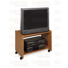 """See Details - STAND/TV ON CASTERS WOOD OAK/F 25""""TV """""""