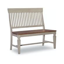 Slatback Bench in Hickory & Stone