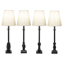Black Contemporary Buffet Lamp. 40W Max. (4 pc. ppk.)