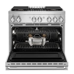 """JennAir - NOIR™ 36"""" Dual-Fuel Professional Range with Gas Grill"""