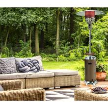 Hanover 7-Ft. 48,000 BTU Steel Umbrella Propane Patio Heater in Bronze/Stainless Steel, H002BRSS