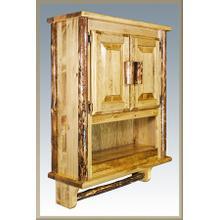 Glacier Log Wall Cabinet