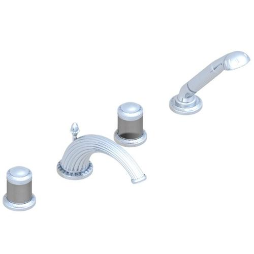 """Roman Tub Set With Divertor Spout and Handshower, 3/4"""""""