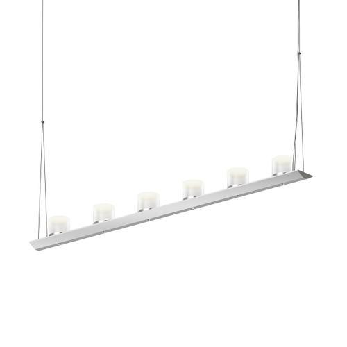 "Sonneman - A Way of Light - Votives LED Bar Pendant [Size=4', Color/Finish=Bright Satin Aluminum, Shade Size=3"" height x 3"" diameter]"