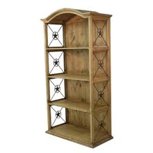 """See Details - 40"""" Bookcase W/Iron Stars"""