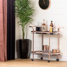 Bar Cart - Rose Gold and Smoked Glass