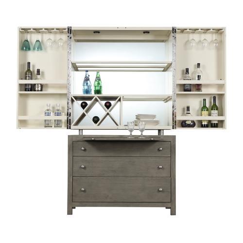Jenga Bar Cabinet, Driftwood D833-50