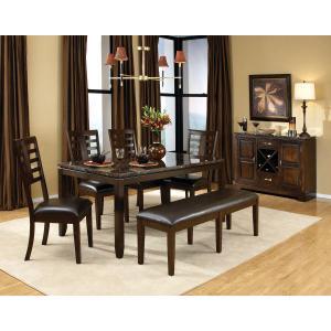 Standard Furniture - Bella Bench, Cherry Brown