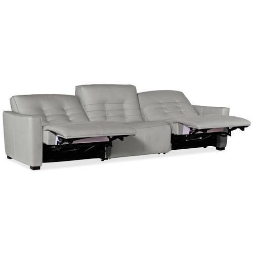 Reaux Power Recline Sofa w/3 Power Recliners