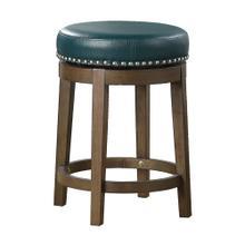 Round Swivel Counter Height Stool, Green