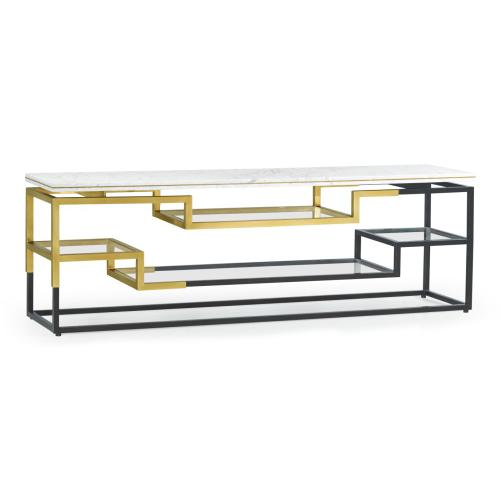 Fusion Low Bronze & Brass Console
