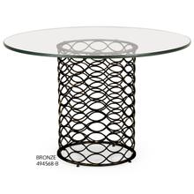 Interlaced bronze & glass dining table