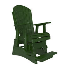 See Details - 2 Adirondack Balcony Glider Chair, Green