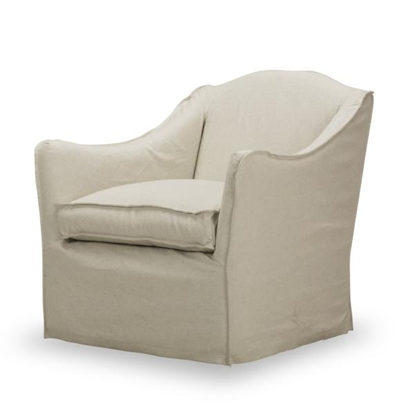 See Details - Keith Slipcovered Swivel in Milar Natural