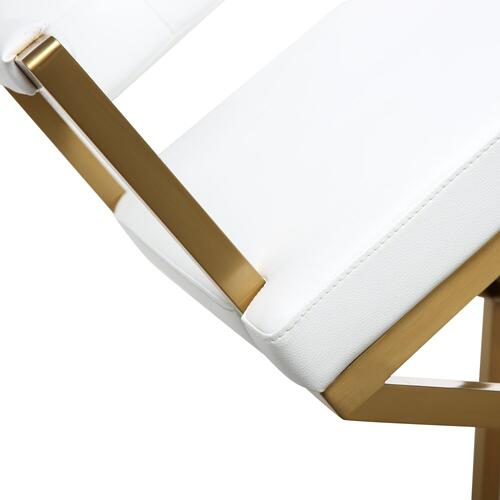 Tov Furniture - Director White Gold Steel Counter Stool