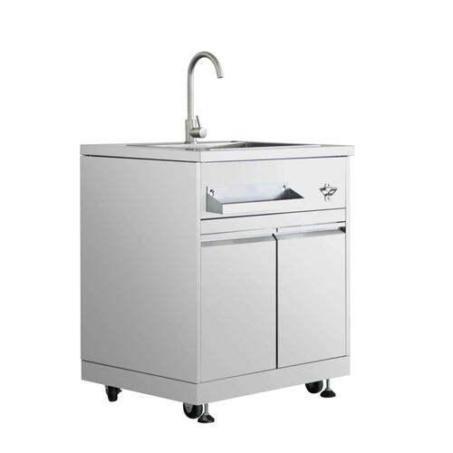 Outdoor Kitchen Sink Cabinet In Stainless Steel