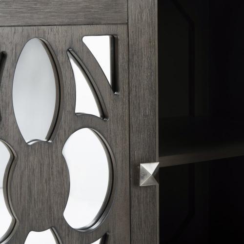 Safavieh - Shannon 2 Door Chest - Grey Wash Walnut / Mirror