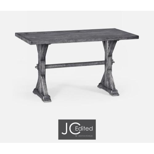 Small solid antique dark grey topped dining table