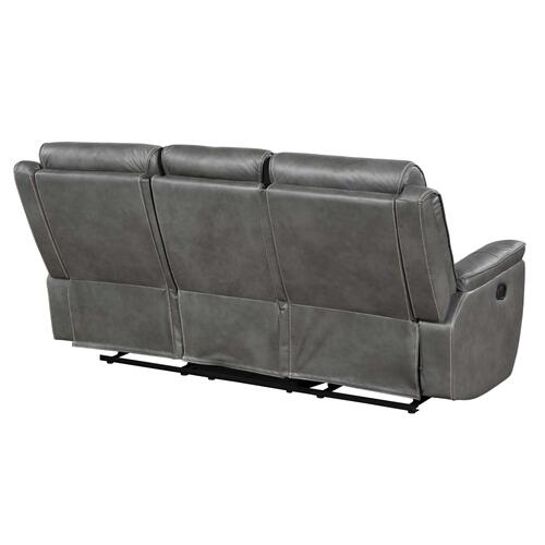 Nash Manual Reclining Sofa w/Dropdown Table